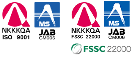 NKKKQA ISO 9001  MS JAB CM 006  NKKKQA FSSC 22000  MS JAB CM006  FSSC22000